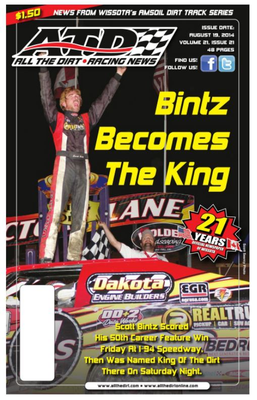 All The Dirt Cover featuring Scott Bintz 2014 King of the Dirt